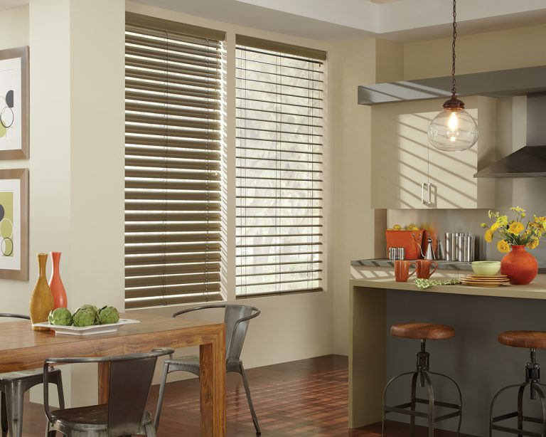 metallic decor window blinds